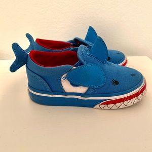 Vans Shark Sneakers - EUC - Size 5.5